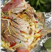 Ikan Merah Kukus (steam) mangga muda