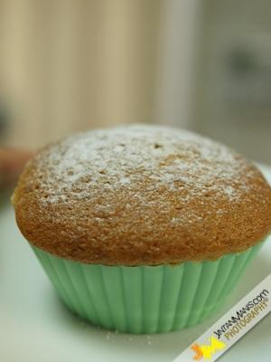 Muffin Pisang Inti Coklat