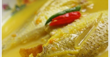 Ikan Putih Rebus Tempoyak