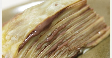 Mille Crepes with Chocolate Cream